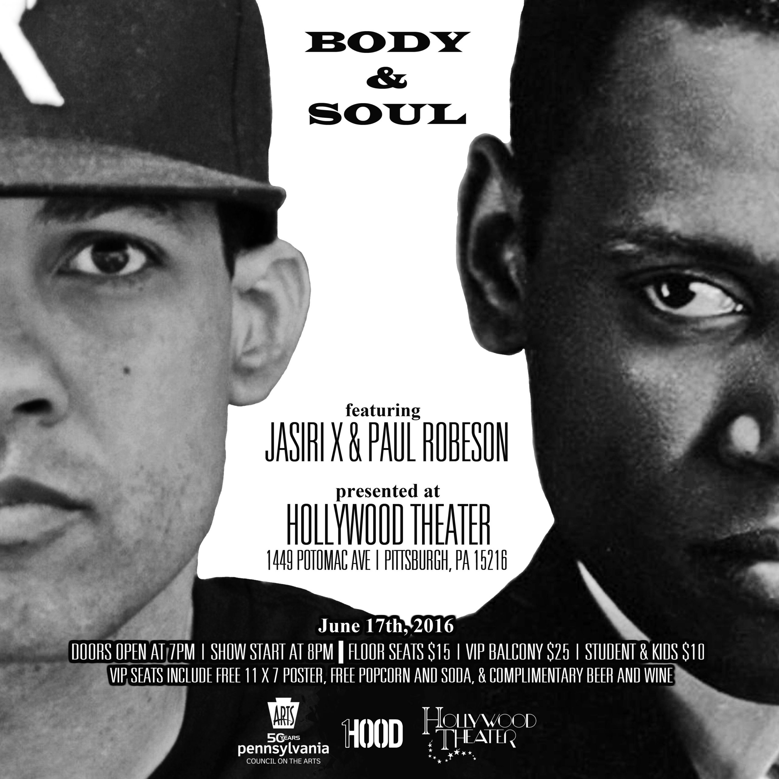 "Jasiri X ""Body & Soul"" soundtrack artwork"