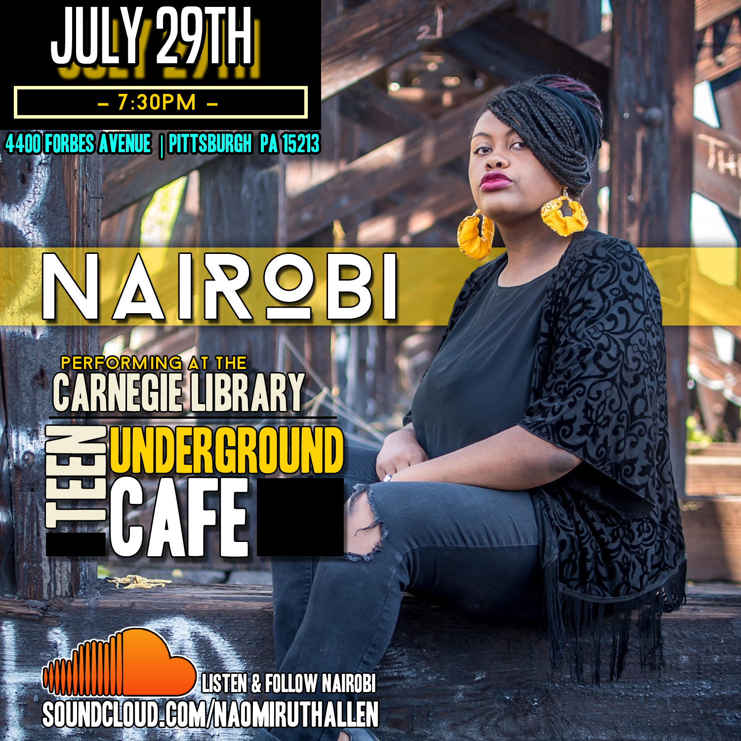 Nairobi @ Teen Underground Cafe flyer